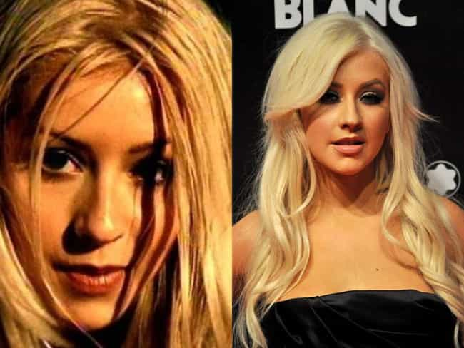 Christina Aguilera is listed (or ranked) 4 on the list Celebrity Nose Jobs: Before and After