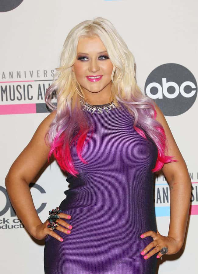 Christina Aguilera is listed (or ranked) 22 on the list Celebrities Rocking Colorful Hair
