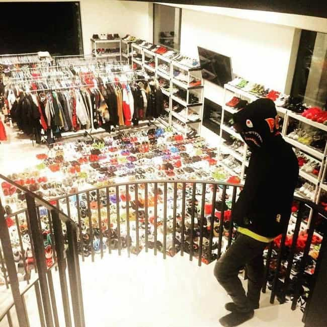 Chris Brown is listed (or ranked) 3 on the list 19 Celebrities Whose Shoe Collections Are Completely Out of Control