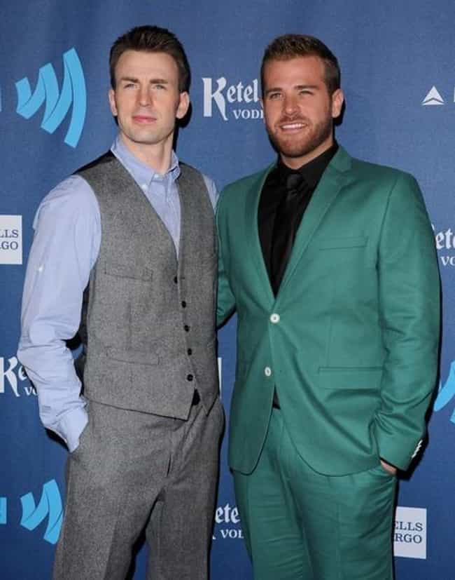Chris Evans is listed (or ranked) 2 on the list 24 Celebrities with Gay Siblings