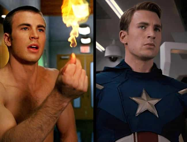 Chris Evans is listed (or ranked) 1 on the list Actors Who've Played Multiple Comic Characters