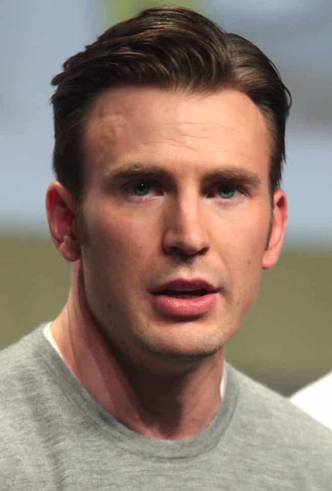 Chris Evans is listed (or ranked) 2 on the list The Best Celebrity Lips (Men)