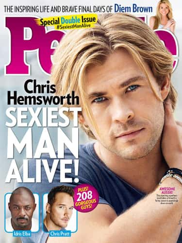2014 - Chris Hemsworth is listed (or ranked) 2 on the list All People's Sexiest Man Alive Covers, Ranked By Current Sexiness Standards