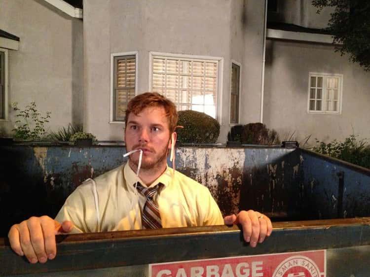 Chris Pratt, Just Chilling in Some Trash