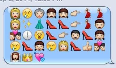 'Cinderella' is listed (or ranked) 2 on the list Plots of Disney Movies Spelled Out in Emojis