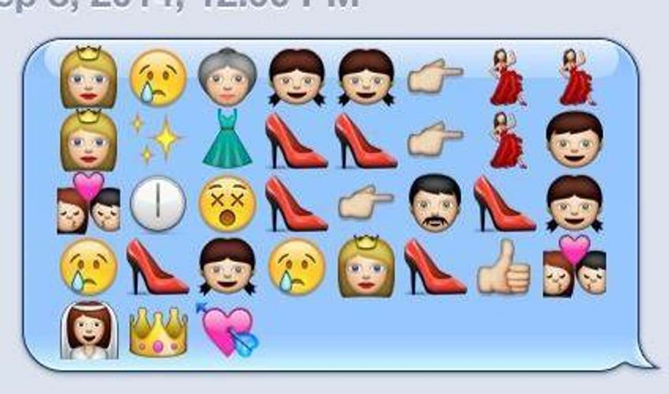 'Cinderella' is listed (or ranked) 1 on the list Plots of Disney Movies Spelled Out in Emojis