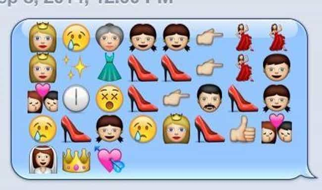 Cinderella is listed (or ranked) 2 on the list Plots of Disney Movies Spelled Out in Emojis