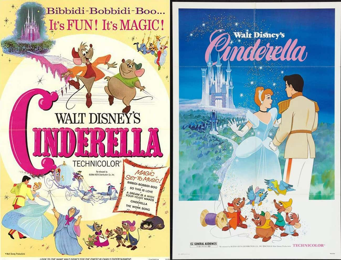 Cinderella is listed (or ranked) 4 on the list 20 Iconic Original Disney Posters VS. Today's Re-Release Covers