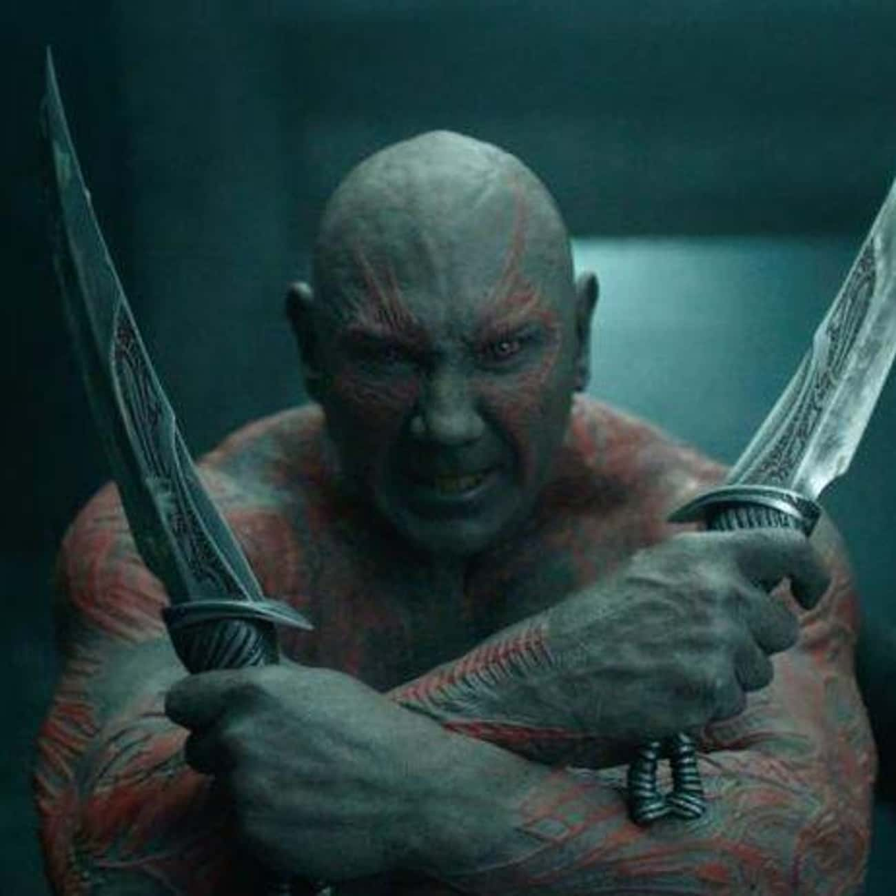 Drax is listed (or ranked) 3 on the list The 15 Best Dave Bautista Performances Of All Time