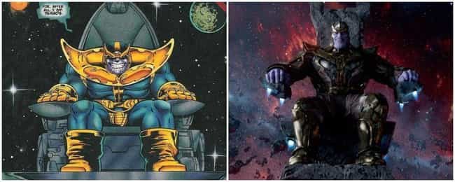 Guardians of the Galaxy is listed (or ranked) 4 on the list Marvel Movies That Perfectly Recreate Panels From The Comics