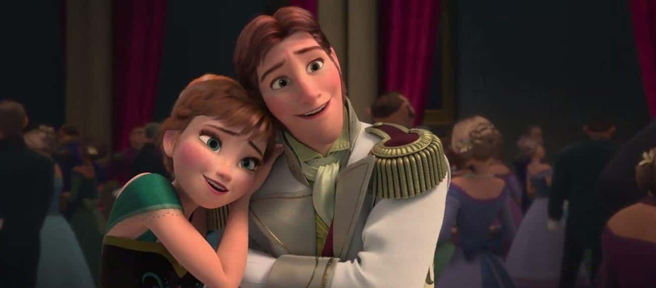 """Anna And Hans In 'Frozen&# is listed (or ranked) 2 on the list Movie Characters Who Said """"I Love You"""" Way, Way Too Quickly, Ranked By How Fast They Said It"""