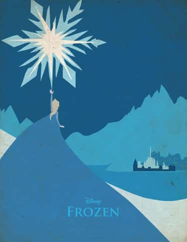 Frozen is listed (or ranked) 1 on the list Minimalist Movie Posters For True Film Nerds