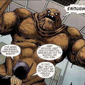 Clayface is listed (or ranked) 22 on the list All of Batman's Deadliest Villains & Enemies, Listed