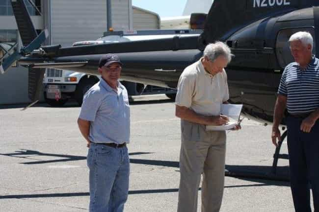 Clint Eastwood is listed (or ranked) 3 on the list Celebrities Who Own Helicopters