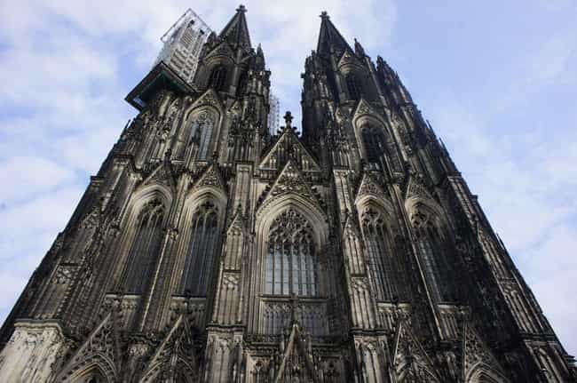 Cologne Cathedral is listed (or ranked) 7 on the list The Most Beautiful Buildings in the World