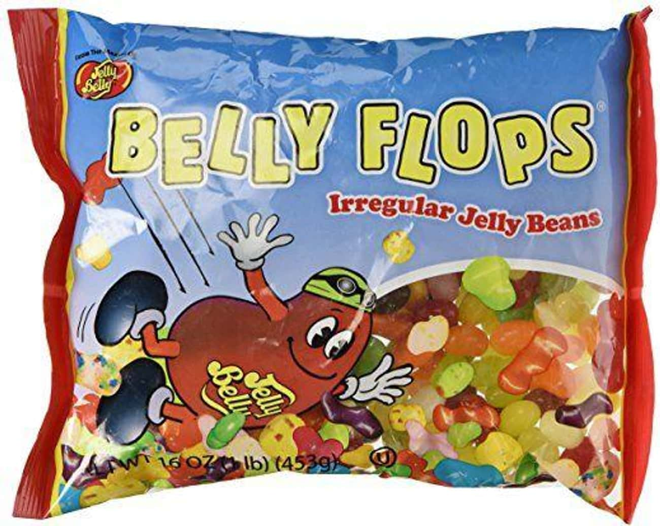 Belly Flops is listed (or ranked) 2 on the list Bizarre Candy You Won't Be Able To Find At Your Local Gas Station