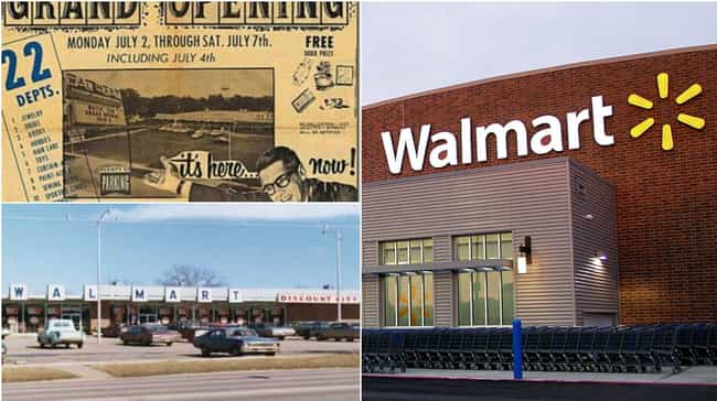 Wal-Mart Supercenter is listed (or ranked) 4 on the list How Storefronts Evolved Over Time