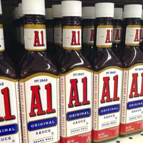 A1 Steak Sauce is listed (or ranked) 14 on the list The Best Toppings at Five Guys, Ranked