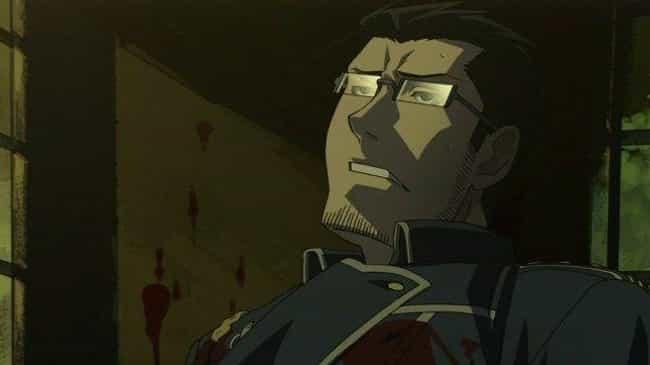 maes hughes is listed (or ranked) 1 on the list 15 Anime Characters Who Tragically Died Alone