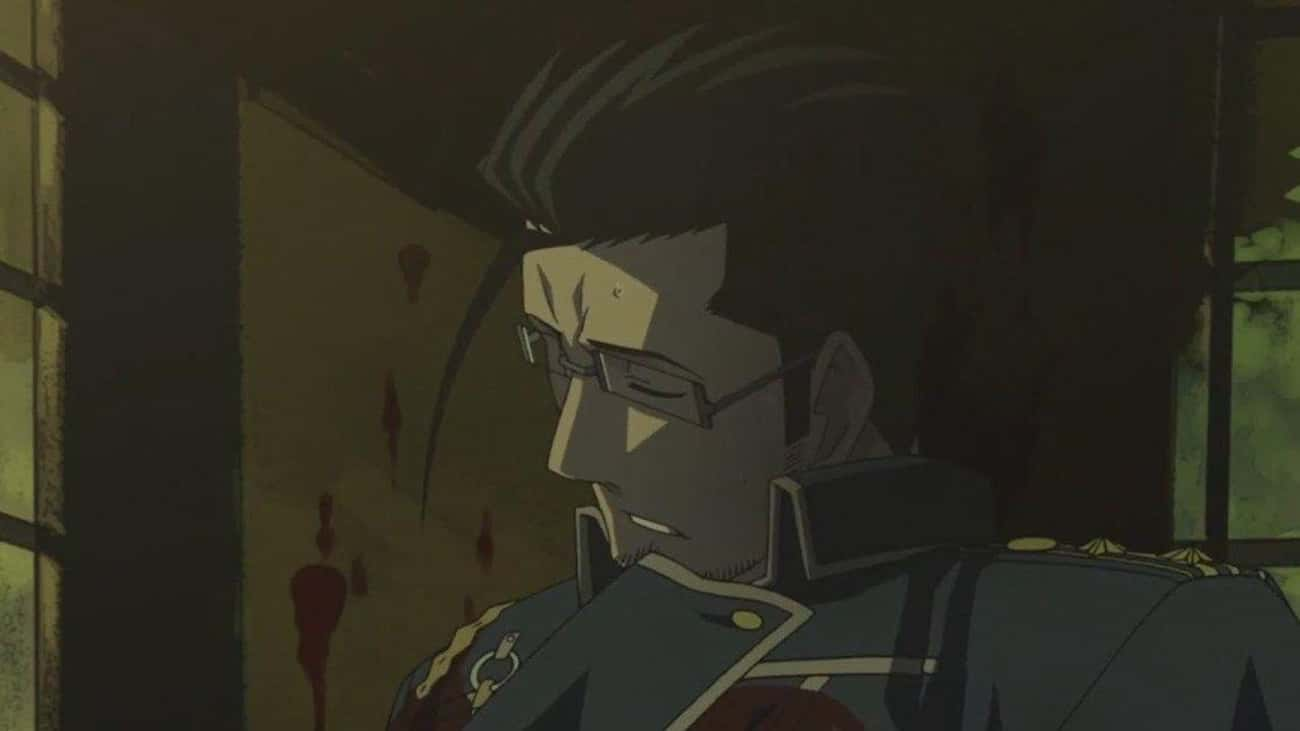 Maes Hughes - 'Fullmetal Alche is listed (or ranked) 1 on the list 23 Anime Characters Who Died In Cruel And Unusual Ways