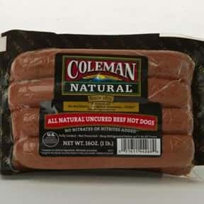 Coleman is listed (or ranked) 19 on the list The Hottest Hot Dog Brands Ever