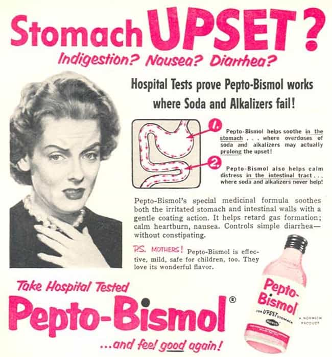 Pepto-Bismol is listed (or ranked) 3 on the list The Secrets Behind Widely Used Products