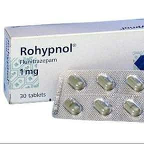 Rohypnol is listed (or ranked) 12 on the list The Worst Drugs for You