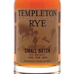 Templeton Rye Whiskey is listed (or ranked) 3 on the list The Best Rye Whiskey