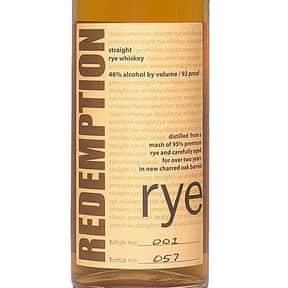 Redemption Rye Whiskey is listed (or ranked) 17 on the list The Best Rye Whiskey