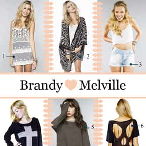 BrandyMelvilleUSA.com is listed (or ranked) 23 on the list The Best American Clothing Brands