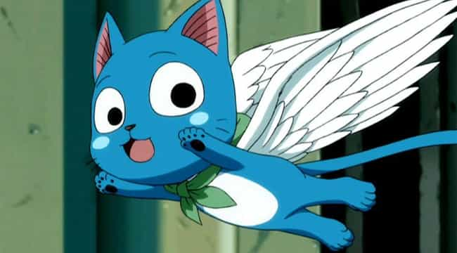 Happy is listed (or ranked) 4 on the list 20 Great Anime Characters Who Can Fly (Excluding DBZ)