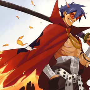 Kamina is listed (or ranked) 16 on the list The Best Anime Characters Who Wear Capes