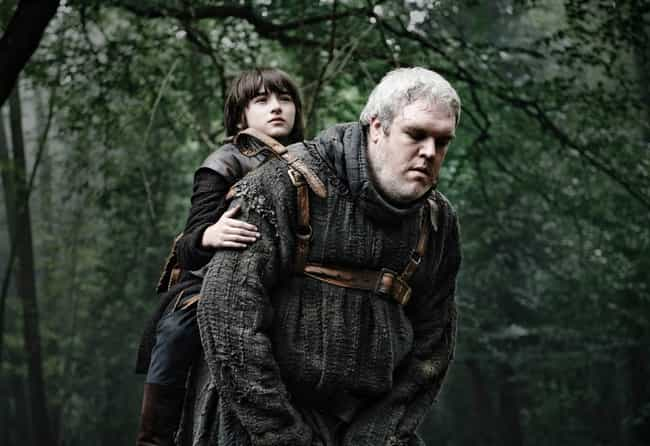 Hodor is listed (or ranked) 4 on the list 20 GoT Characters Who Basically Disappeared from the Show