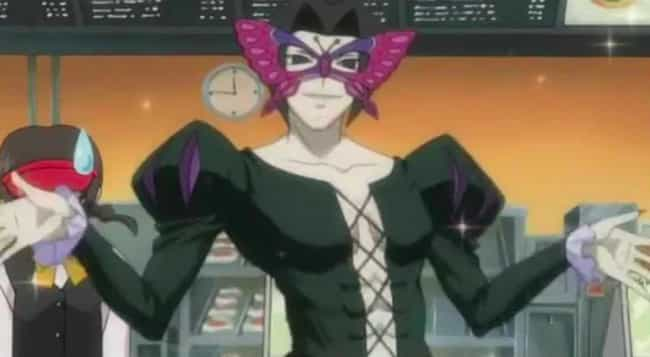 Koushaku Chouno is listed (or ranked) 4 on the list 14 Anime Characters With Terrible Fashion Sense