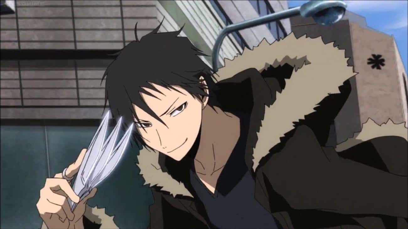 """Izaya Orihara - 'Durarara!' is listed (or ranked) 3 on the list 15 Anime 'Knife Nuts"""" Who Prefer To Fight With Knives"""