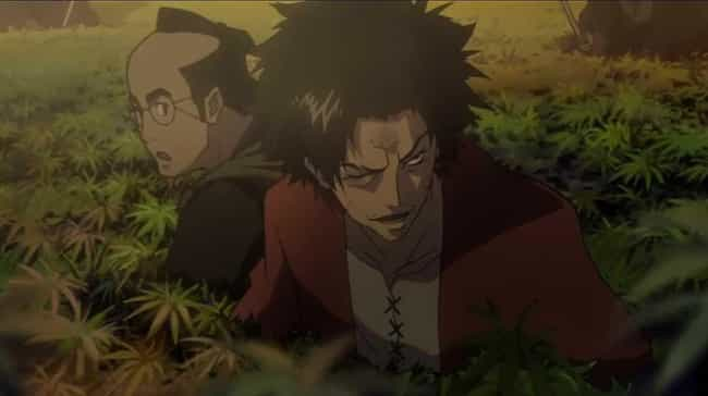 Mugen is listed (or ranked) 2 on the list 15 Anime Characters Who Probably Smoke Weed