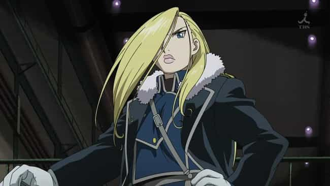 Olivier Mira Armstrong is listed (or ranked) 2 on the list 15 Anime Characters Who Should Run For President in 2020