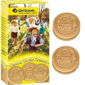 Lemon Chalet Cremes is listed (or ranked) 13 on the list The Most Delicious Girl Scout Cookies, Ranked