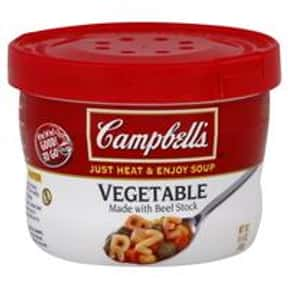 Campbell's Vegetable is listed (or ranked) 17 on the list The Best Kinds of Campbell's Soups That Are Mmm, Mmm Good