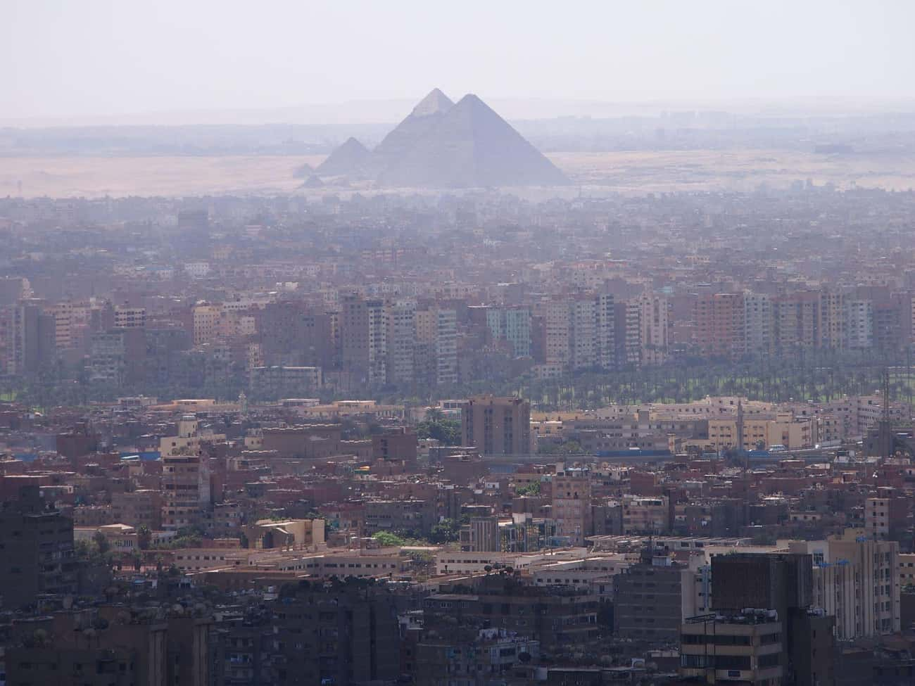 Giza Pyramids is listed (or ranked) 1 on the list Famous Places Seen From a New Perspective