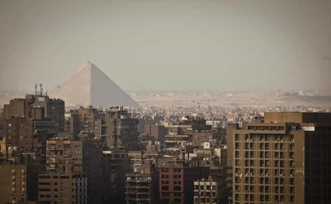 Egyptian pyramids is listed (or ranked) 4 on the list 30+ Famous Places Seen From a New Perspective