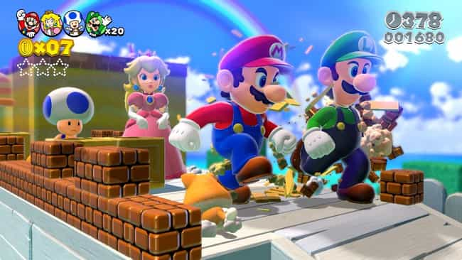 Super Mario 3D World is listed (or ranked) 2 on the list The Best Games To Play With Non-Gamers