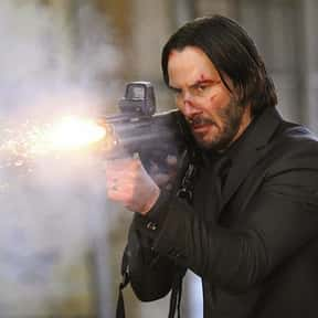 John Wick is listed (or ranked) 19 on the list Movie Tough Guys Without Super Powers or a Super Suit