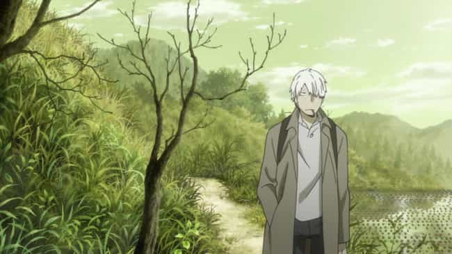 Ginko is listed (or ranked) 8 on the list 15 Anime Drifters Who Wander From Town to Town