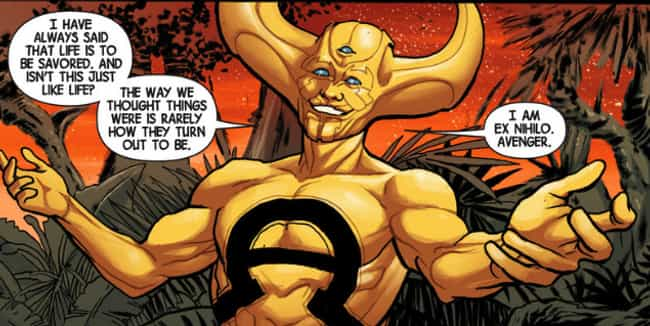 Ex Nihilo is listed (or ranked) 3 on the list 13 Lame Avengers Who Totally Shouldn't Count