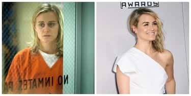 Piper Chapman - Taylor Schilli is listed (or ranked) 1 on the list 'Orange Is The New Black' Characters Out Of Their Prison Jumpsuits