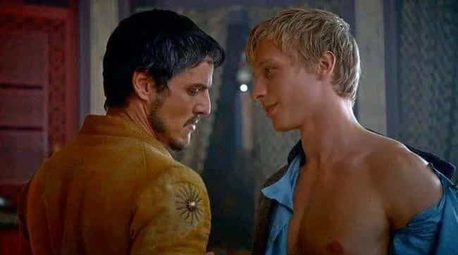 Oberyn Martell is listed (or ranked) 4 on the list 25 Times Game of Thrones Added Sex That's Not in the Books