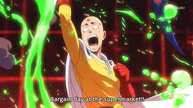 One Punch Man is listed (or ranked) 4 on the list 14 Times Anime Took Completely Boring Subjects and Made Them Exciting