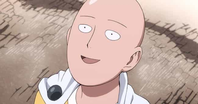 Saitama is listed (or ranked) 3 on the list 15 Anime Characters Who Probably Smoke Weed