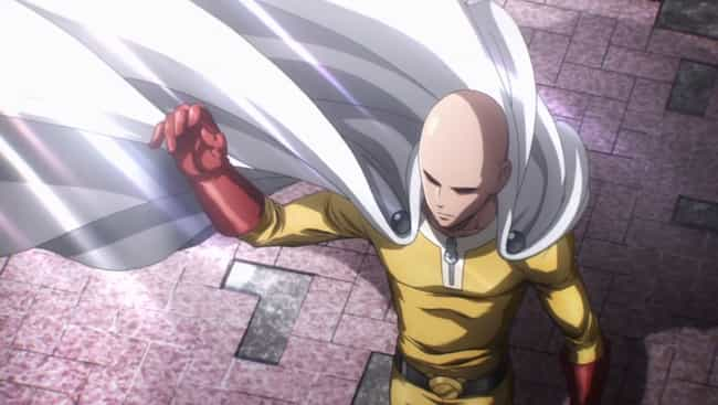 Saitama is listed (or ranked) 3 on the list 13 Undefeated Anime Heroes Who Have Never Technically Lost A Fight